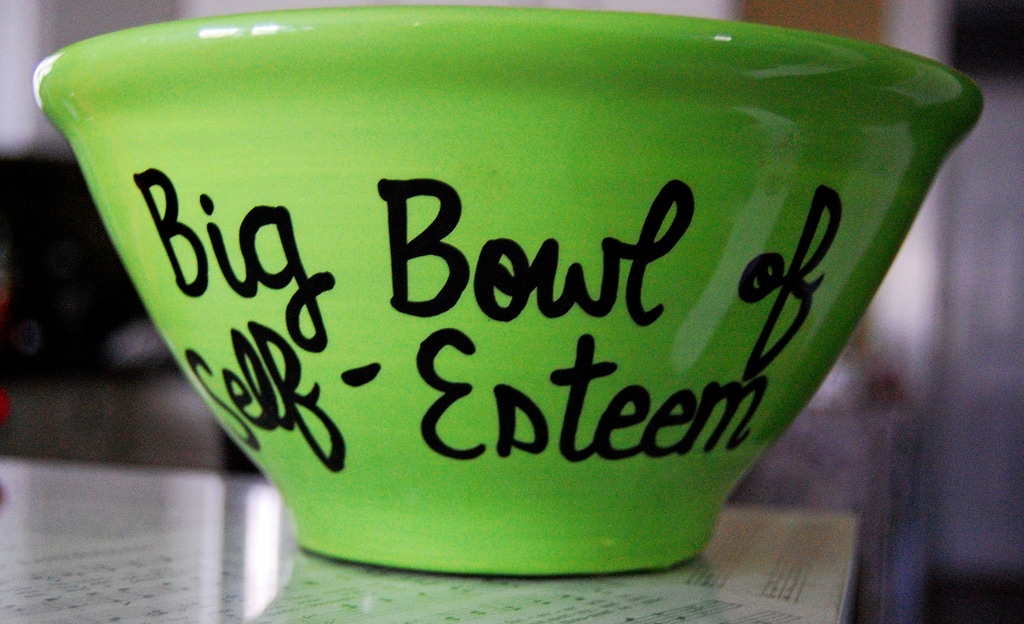 ceramic bowl with message