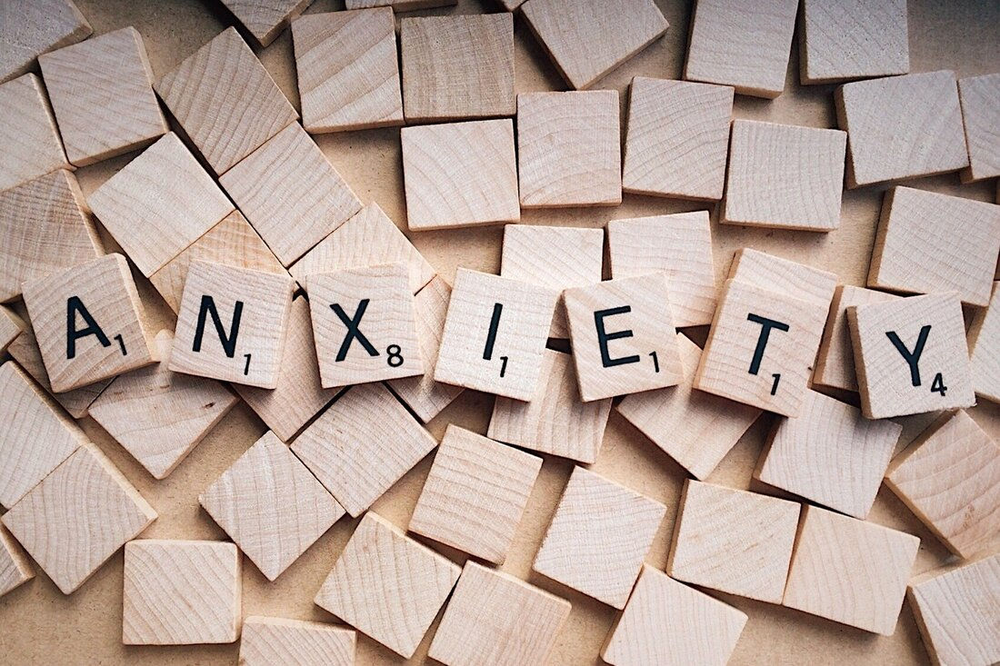 anxiety spelled out in blocks